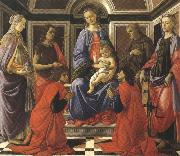 Sandro Botticelli Madonna enthroned with Child and Saints (mk36) oil painting picture wholesale
