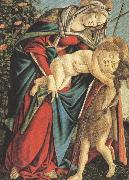 Sandro Botticelli Madonna and Child with the Young St john or Madonna of the Rose Garden (mk36) oil painting picture wholesale