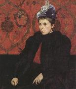 Sir james dromgole linton,P.R.I. Portrait of Mrs Minie Sidney,aged 39 (mk37) oil painting picture wholesale