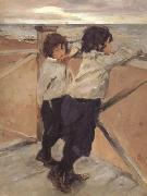 Valentin Aleksandrovich Serov The Children Shasha and Iura Serov (nn02) oil painting picture wholesale