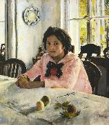 Valentin Aleksandrovich Serov Girl with Peaches (nn02) oil painting picture wholesale