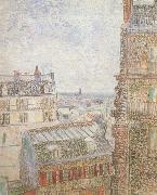 Vincent Van Gogh View of Paris from Vincent's Room in t he Rue Lepic (nn04) oil painting picture wholesale
