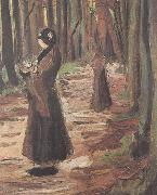 Vincent Van Gogh Tow Women in the Woods (nn04) oil painting picture wholesale
