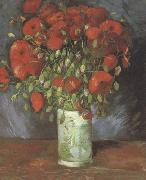 Vincent Van Gogh Vase wtih Red Poppies (nn040 oil painting picture wholesale