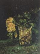 Vincent Van Gogh Glass with  Roses (nn04) oil painting picture wholesale