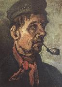 Vincent Van Gogh Head of a Peasant with a Pipe (nn040 oil painting picture wholesale