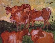 Vincent Van Gogh Cows (nn04) oil painting picture wholesale