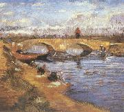 Vincent Van Gogh The Gleize Brideg over the Vigueirat Canal (nn04) oil painting picture wholesale