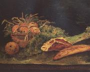 Vincent Van Gogh Still Life wtih Apples,Meat and a Roll (nn04) oil painting picture wholesale