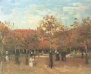 Vincent Van Gogh The Bois de Boulogne with People Walking (nn04) oil painting picture wholesale