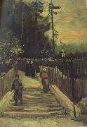 Vincent Van Gogh Sloping Path in Montmartre (nn004) oil painting picture wholesale