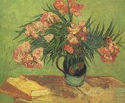 Vincent Van Gogh Still life:Vast with Oleanders and Books (nn04) oil painting picture wholesale