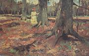 Vincent Van Gogh Girl in White in the Woods (nn04) oil painting picture wholesale