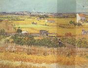 Vincent Van Gogh Havest at La Crau,wtih Mountmajour in the Background (nn04) oil painting picture wholesale