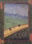 Vincent Van Gogh Japonaiserie:Bridge in the Rain (nn04) oil painting picture wholesale