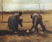 Vincent Van Gogh Peasant and Peasant Woman Planting Potatoes (nn04) oil painting picture wholesale