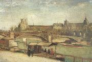 Vincent Van Gogh The Pont du Carrousel and the Louvre (nn04) oil painting picture wholesale