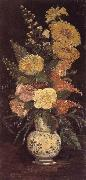 Vincent Van Gogh Vase with Asters ,Salvia and Other Flowers (nn04) oil painting picture wholesale