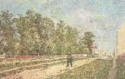 Vincent Van Gogh Outskirts of Paris:Road with Peasant Shouldering a Spade (nn04) oil painting picture wholesale