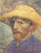 Vincent Van Gogh Self-Portrait with Straw Hat (nn04) oil painting picture wholesale