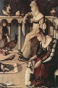 Vittore Carpaccio Two Venetian Ladies on a Balcony (nn03) oil painting picture wholesale