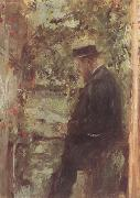 Wilhelm Leibl The Veterinarian Dr Reindl in the Arbor (nn02) oil painting artist
