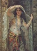William Clarke Wontner Safe,One of the Three Ladies of Bagdad (mk32) oil painting artist