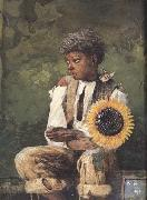 Winslow Homer Taking Sunflower to Teacher (mk44) oil painting picture wholesale