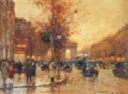 unknow artist Paris Street oil painting artist