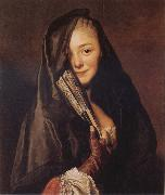 Alexander Roslin Woman with a Veil:Marie Suzanne Roslin oil painting artist