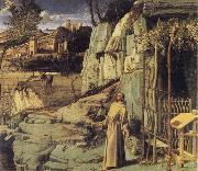 BELLINI, Giovanni St Francis in the Wilderness oil painting picture wholesale