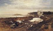 Benjamin Williams Leader The Excavation of the Manchester Ship Canal oil painting artist