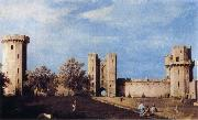 Canaletto The Courtyard of the Castle of Warwick oil painting picture wholesale