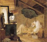 Carl Spitzweg The Poor Poet oil
