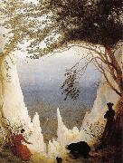 Caspar David Friedrich Chalk Cliffs on Rugen oil painting picture wholesale