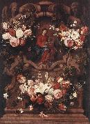 Daniel Seghers Floral Wreath with Madonna and Child oil