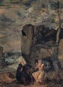 Diego Velazquez St.Anthony Abbot and St.Paul the Hermit oil painting picture wholesale