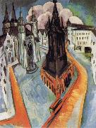 Ernst Ludwig Kirchner The Red Tower in Halle oil painting picture wholesale