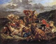 Eugene Delacroix The Lion Hunt oil painting picture wholesale