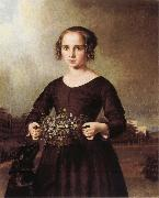 Ferdinand von Rayski Portrait of a Young Girl oil painting artist