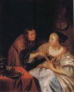 Frans van Mieris Carousing Couple oil painting artist