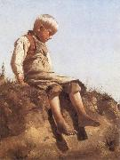 Franz von Lenbach Young Boy in the Sun Sweden oil painting reproduction