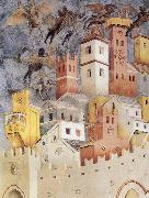 GIOTTO di Bondone The Devils Cast our of Arezzo oil painting