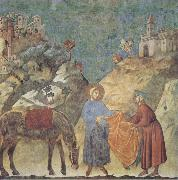 GIOTTO di Bondone St Francis Giving his Cloak to a Poor Man oil painting picture wholesale