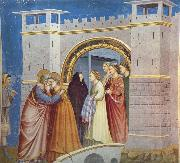 GIOTTO di Bondone Anna and Joachim Meet at the Golden Gate oil painting picture wholesale