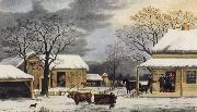 George Durrie Home to Thanksgiving oil painting picture wholesale