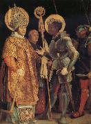 Grunewald, Matthias The Meeting of St Erasmus and St Maurice oil painting picture wholesale