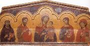 Guido da Siena Madonna and Child with Four Saints oil painting artist