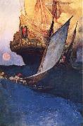 Howard Pyle An Attack on a Galleon oil painting picture wholesale