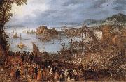Jan Brueghel The Elder Great Fish-Market oil painting artist